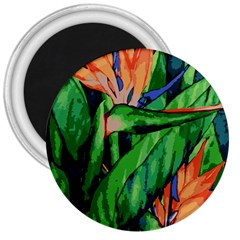 Flowers Art Beautiful 3  Magnets