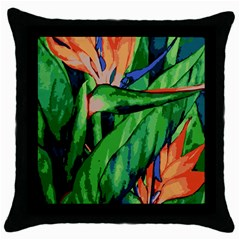 Flowers Art Beautiful Throw Pillow Case (black)