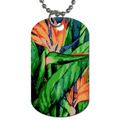 Flowers Art Beautiful Dog Tag (one Side)