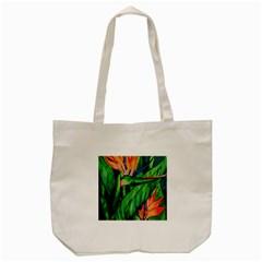 Flowers Art Beautiful Tote Bag (cream)
