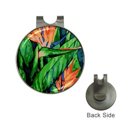 Flowers Art Beautiful Hat Clips With Golf Markers