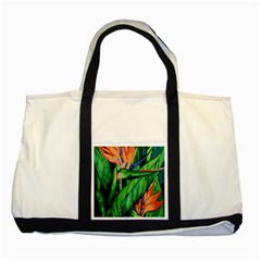 Flowers Art Beautiful Two Tone Tote Bag