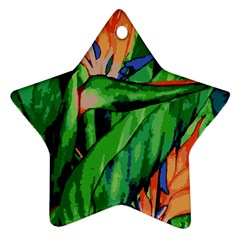 Flowers Art Beautiful Star Ornament (two Sides)