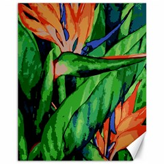 Flowers Art Beautiful Canvas 11  X 14