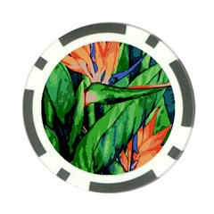 Flowers Art Beautiful Poker Chip Card Guard