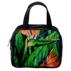 Flowers Art Beautiful Classic Handbags (one Side)
