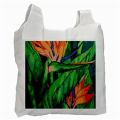 Flowers Art Beautiful Recycle Bag (two Side)