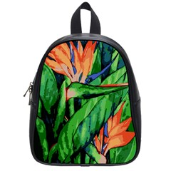 Flowers Art Beautiful School Bags (small)