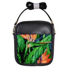 Flowers Art Beautiful Girls Sling Bags