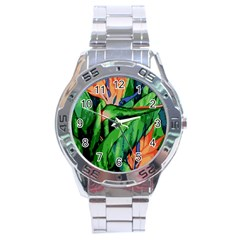 Flowers Art Beautiful Stainless Steel Analogue Watch