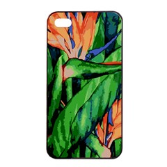 Flowers Art Beautiful Apple iPhone 4/4s Seamless Case (Black)