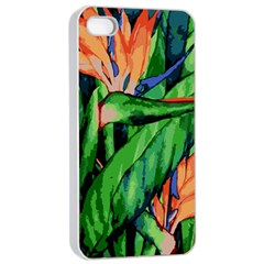 Flowers Art Beautiful Apple iPhone 4/4s Seamless Case (White)
