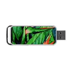 Flowers Art Beautiful Portable Usb Flash (two Sides)