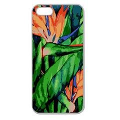 Flowers Art Beautiful Apple Seamless Iphone 5 Case (clear)