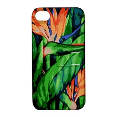 Flowers Art Beautiful Apple Iphone 4/4s Hardshell Case With Stand