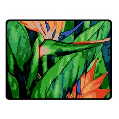 Flowers Art Beautiful Double Sided Fleece Blanket (small)