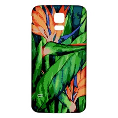 Flowers Art Beautiful Samsung Galaxy S5 Back Case (white)
