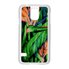 Flowers Art Beautiful Samsung Galaxy S5 Case (white)