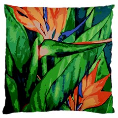 Flowers Art Beautiful Standard Flano Cushion Case (one Side)