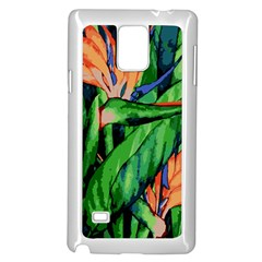 Flowers Art Beautiful Samsung Galaxy Note 4 Case (white)