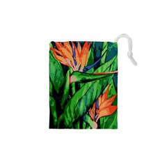 Flowers Art Beautiful Drawstring Pouches (xs)