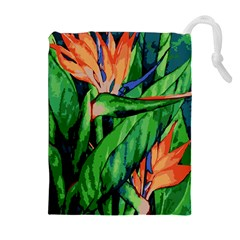 Flowers Art Beautiful Drawstring Pouches (extra Large)