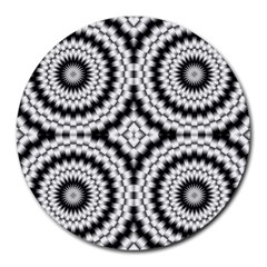 Pattern Tile Seamless Design Round Mousepads