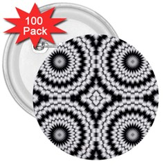Pattern Tile Seamless Design 3  Buttons (100 Pack)