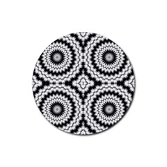 Pattern Tile Seamless Design Rubber Coaster (round)