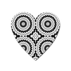 Pattern Tile Seamless Design Heart Magnet