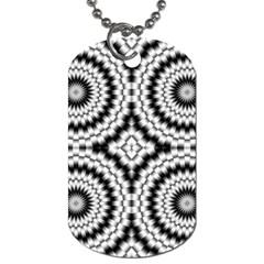 Pattern Tile Seamless Design Dog Tag (two Sides)