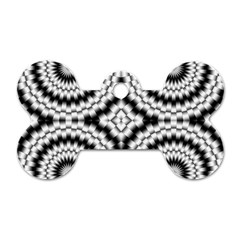 Pattern Tile Seamless Design Dog Tag Bone (two Sides)