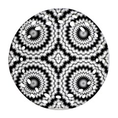 Pattern Tile Seamless Design Round Filigree Ornament (two Sides)