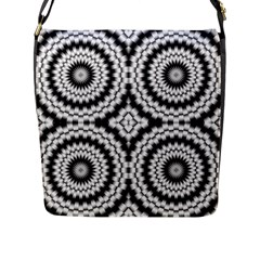 Pattern Tile Seamless Design Flap Messenger Bag (l)