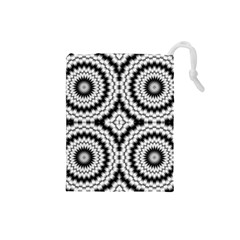 Pattern Tile Seamless Design Drawstring Pouches (small)