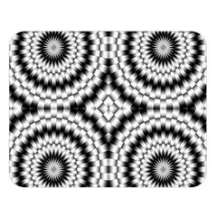 Pattern Tile Seamless Design Double Sided Flano Blanket (large)