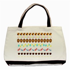 Sunflower Plaid Candy Star Cocolate Love Heart Basic Tote Bag