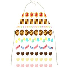 Sunflower Plaid Candy Star Cocolate Love Heart Full Print Aprons