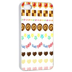 Sunflower Plaid Candy Star Cocolate Love Heart Apple Iphone 4/4s Seamless Case (white)
