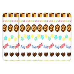 Sunflower Plaid Candy Star Cocolate Love Heart Samsung Galaxy Tab 8.9  P7300 Flip Case
