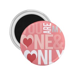 Valentines Day One Only Pink Heart 2 25  Magnets