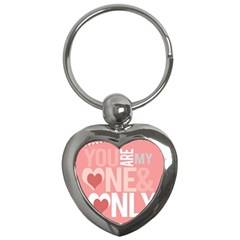 Valentines Day One Only Pink Heart Key Chains (heart)