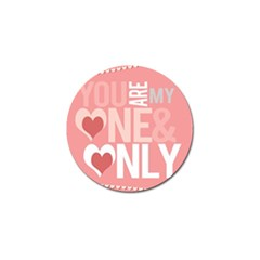 Valentines Day One Only Pink Heart Golf Ball Marker (10 Pack)