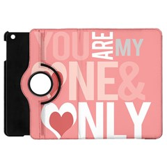 Valentines Day One Only Pink Heart Apple Ipad Mini Flip 360 Case