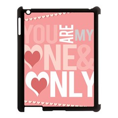 Valentines Day One Only Pink Heart Apple Ipad 3/4 Case (black)