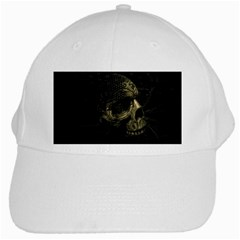 Skull Fantasy Dark Surreal White Cap