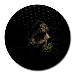 Skull Fantasy Dark Surreal Round Mousepads
