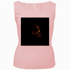 Skull Fantasy Dark Surreal Women s Pink Tank Top