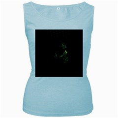 Skull Fantasy Dark Surreal Women s Baby Blue Tank Top