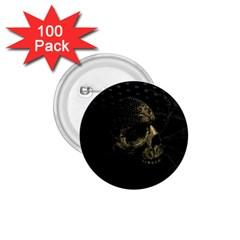 Skull Fantasy Dark Surreal 1.75  Buttons (100 pack)